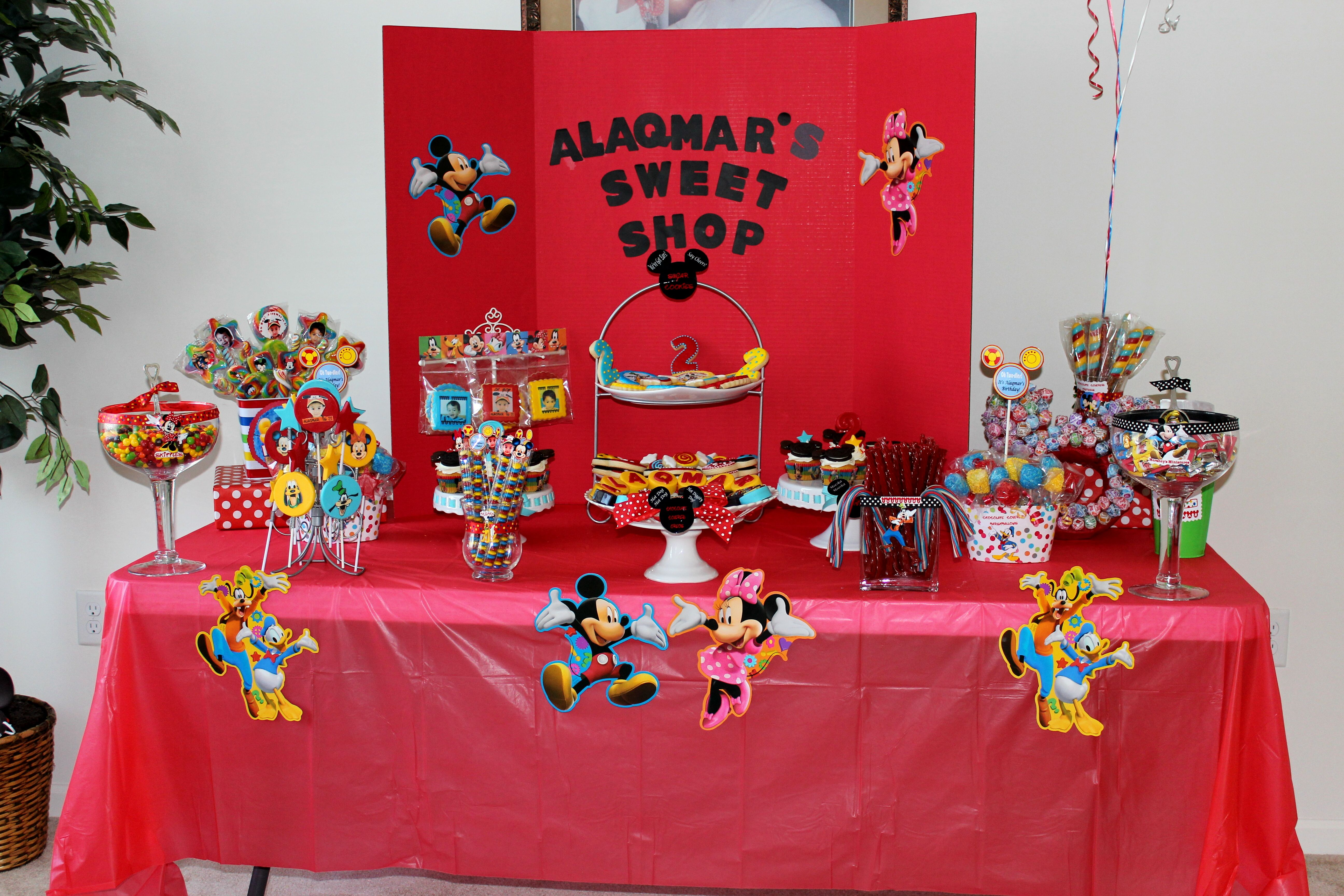Mickey Mouse Candy Table Candy Buffet Candy Table Birthday