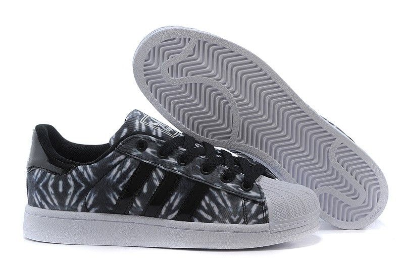 Adidas Superstar Palmier Noir Et Blanc