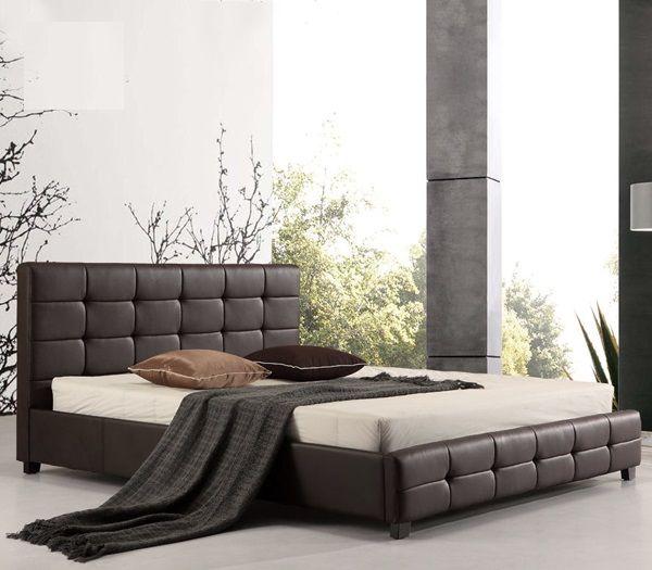 Κρεβάτια : FIDEL Κρεβάτι ΔΙΠΛΟ PU Σκ.Καφέ Ε8053,2 | krevati | Pinterest