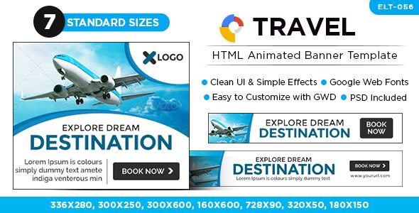 Travel Promotion Banners Lion Banners