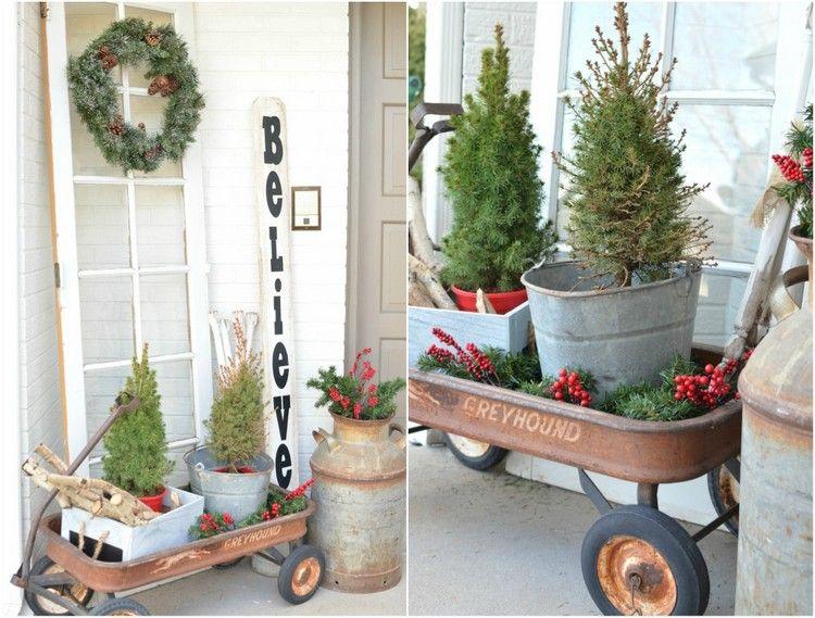 Zinkwanne weihnachtlich dekorieren weihnachtsdeko hauseingang weihnachten - Zinkwanne dekorieren ...