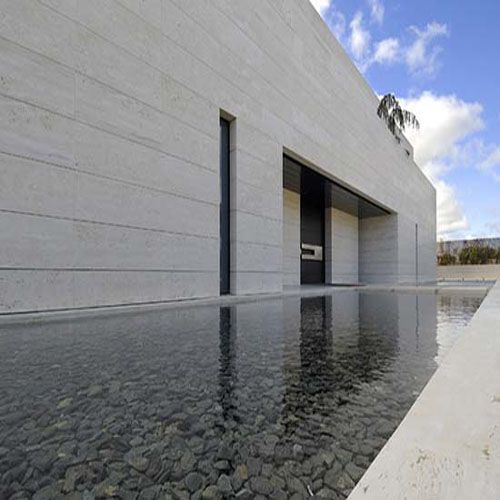 White Travertine Exterior Wall Cladding Great Spaces Architecture Porn Pinterest Wall
