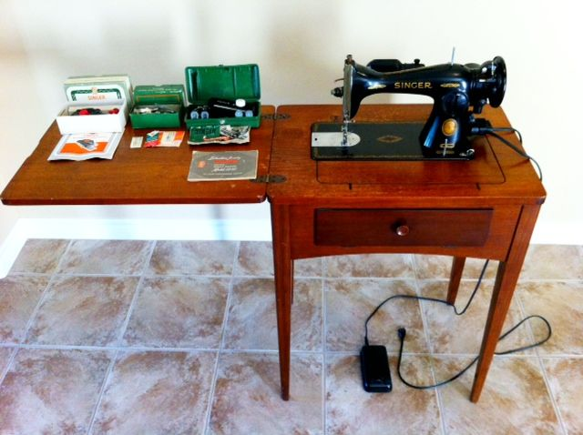 This Is A 40 Singer Sewing Machine That Was Brought To Us The Simple 1955 Singer Sewing Machine