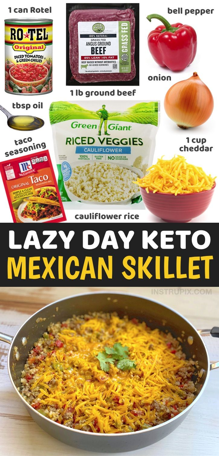 One Pan Cheesy Mexican Ground Beef Cauliflower Rice Keto Dinner Recipe In 2020 Recipes Low Carb Keto Recipes Low Carb Diet Recipes