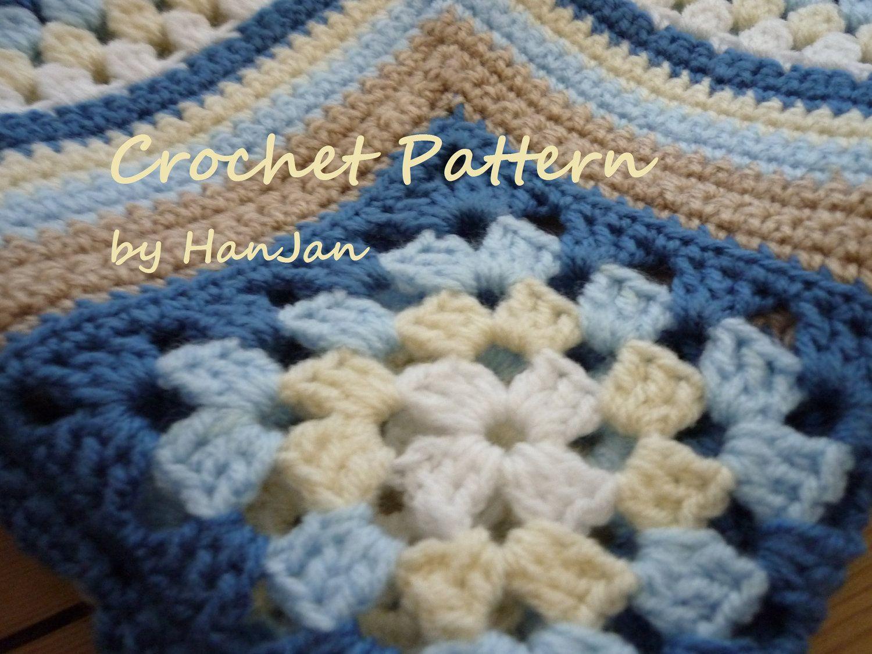 Matthew\'s Cluster Blanket - Instant Download PDF Crochet Pattern ...