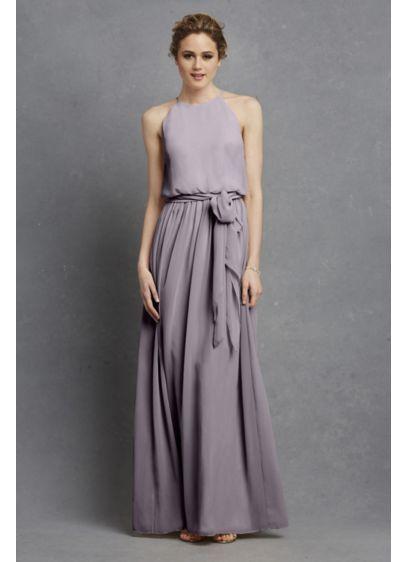 4eb0d7399f28 Long Pink Soft   Flowy Donna Morgan Bridesmaid Dress