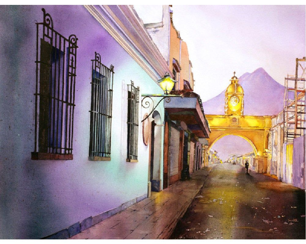 Arch Of Santa Catalina In City Of Antigua Guatemala Wall Art Etsy In 2020 Architecture Painting Art Photo Prints Guatemalan Art
