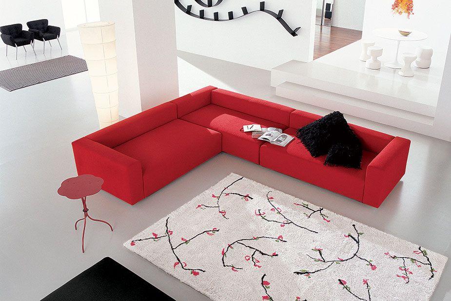 Divano rosso Linea Italia modello Favola. | Divani Design | Doimo ...