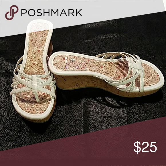jellypop sandals white synthetic w/cork