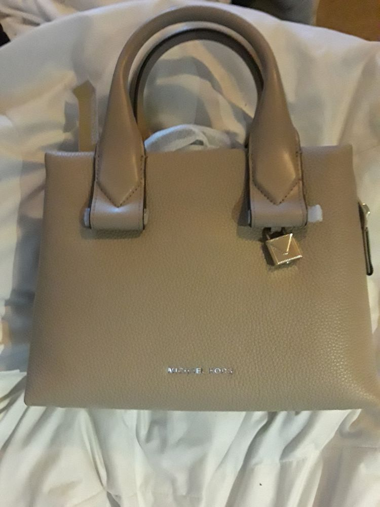 fa58bab84d2c Michael Kors Rollins Small Pebbled Leather Satchel- Truffle  fashion   clothing  shoes