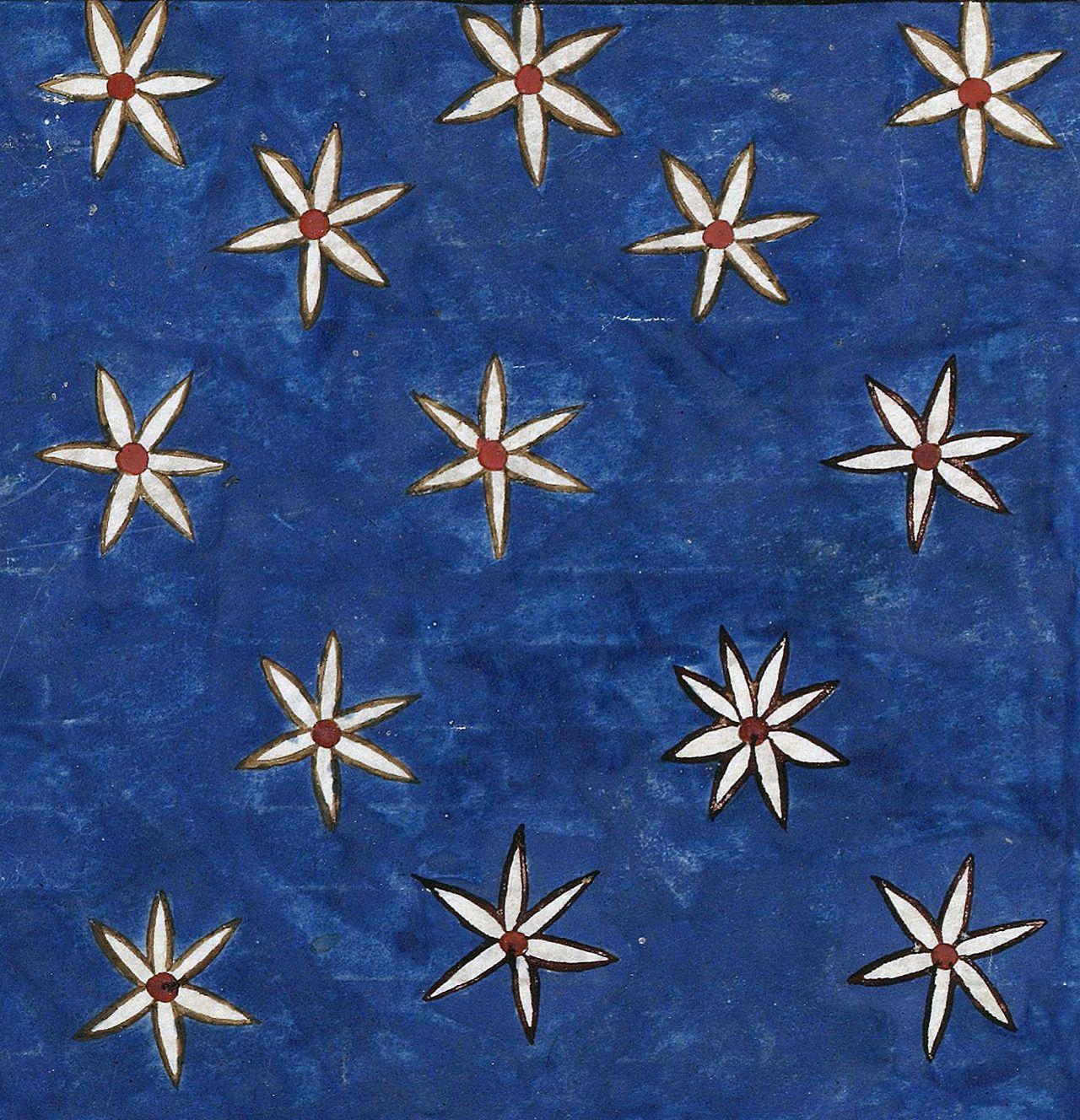 """ falling stars Beatus of Liébana, Commentaria in Apocalypsin (the 'Beatus of Saint-Sever'), Saint-Sever before 1072 BnF, Latin 8878, fol. 139v """