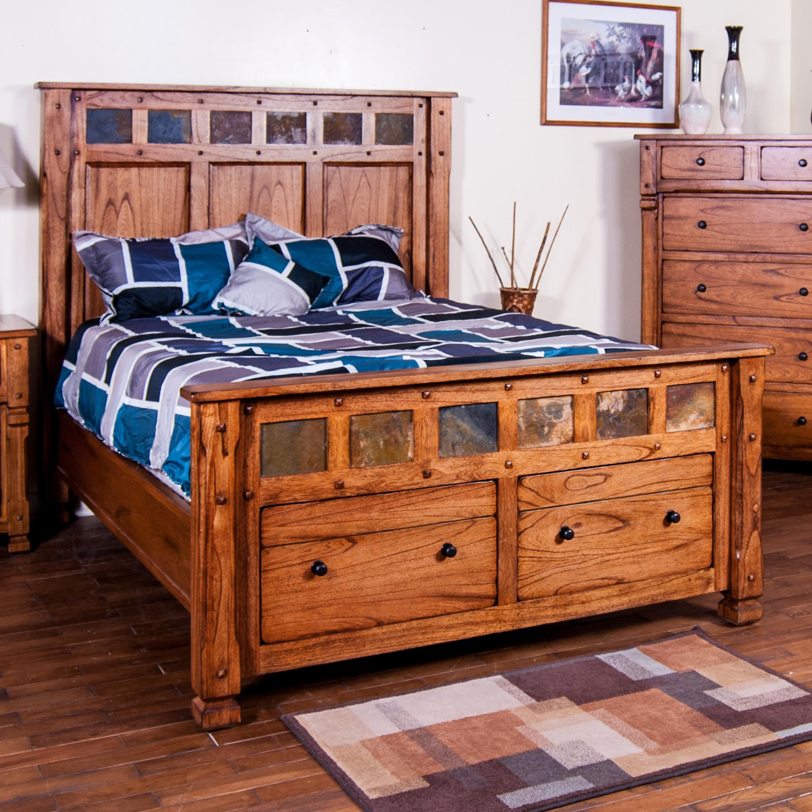 Sedona Queen Bed W Storage By Sunny Designs