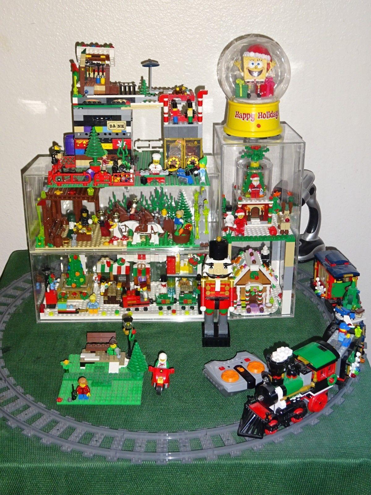 Lego Christmas.Huge Lot Lego Christmas Train 10254 10245 40139 40254