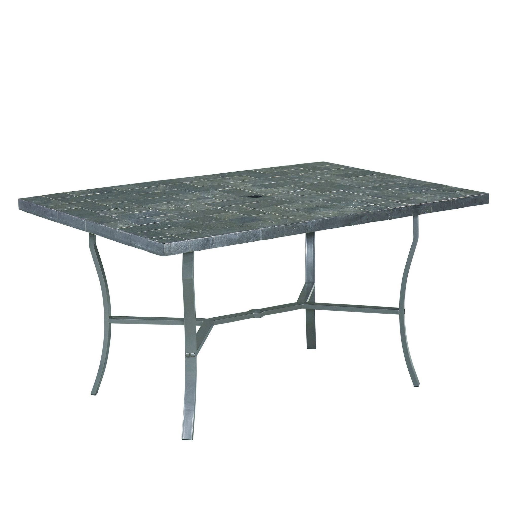 Home Styles Cumberland Stone 60 In. Rectangular Slate Tile Top Patio Dining  Table   Take Your Outdoor Dining To A Whole New Level Of Chic With The Home  ...