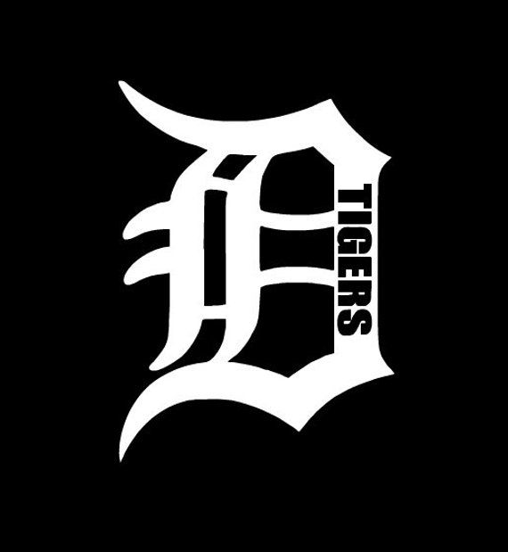 Custom Detroit Tiger D Logo Vinyl Decal - Unique Design