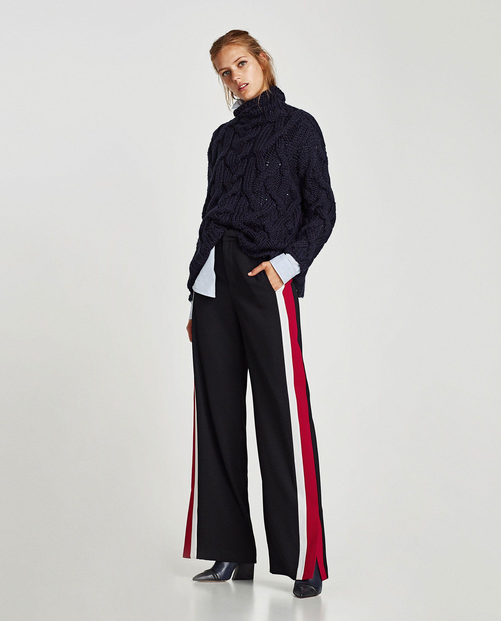 Pantalon Banda Lateral Hosen Damen Damenhosen Hosen Frauen