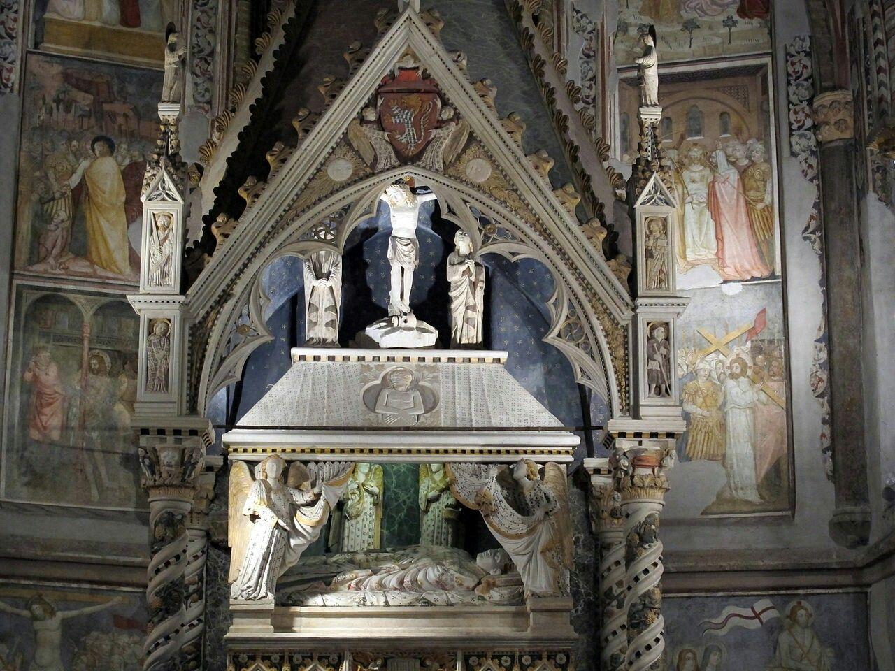 Monumento funebre a Enrico Minutolo. Scuola Romana di inizi '400.