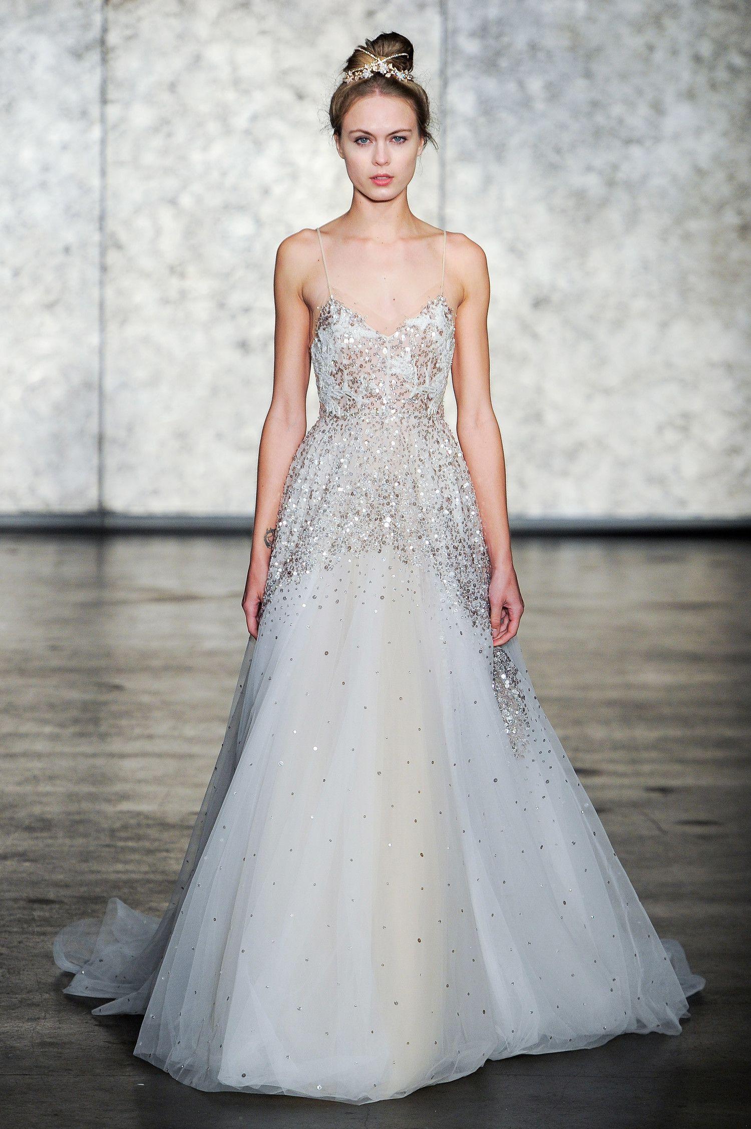 Metallic Wedding Dresses 2018