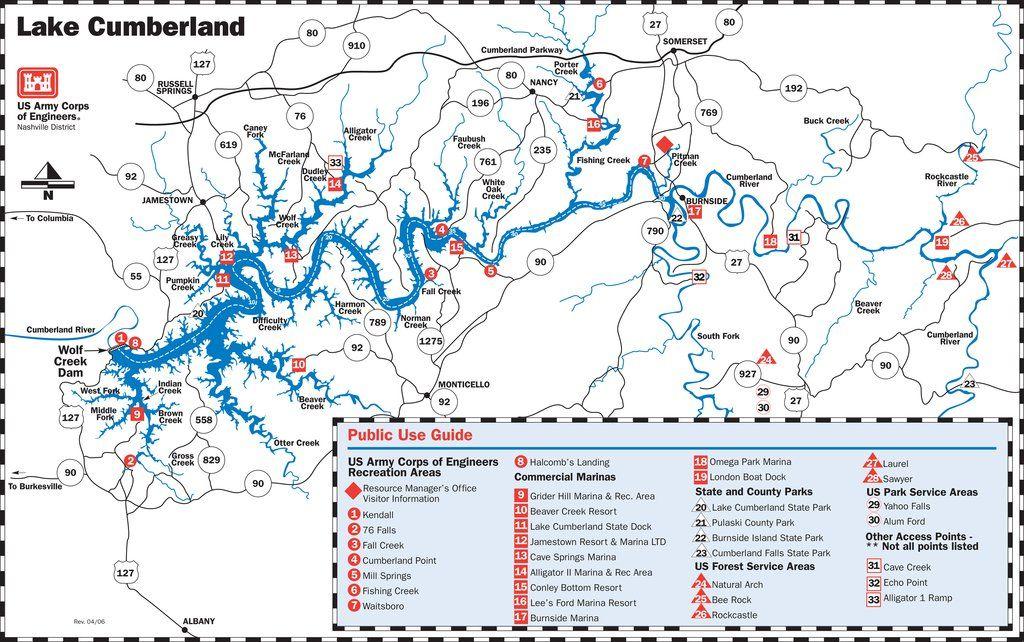 lake cumberland map of marinas Lake Cumberland Map Cumberland Lake Lake Cumberland Kentucky Lake lake cumberland map of marinas