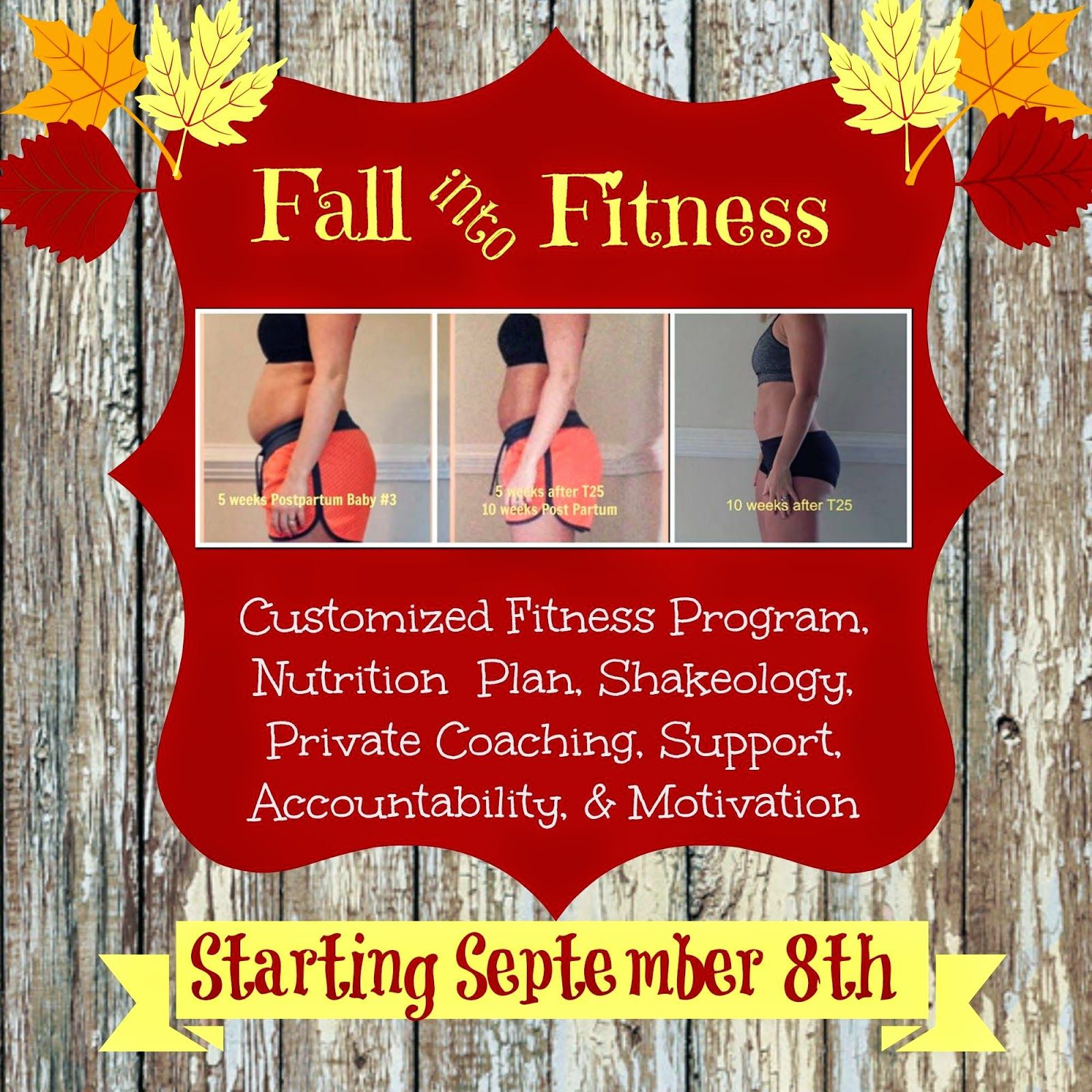 Fall into Fitness....Join me!! :)