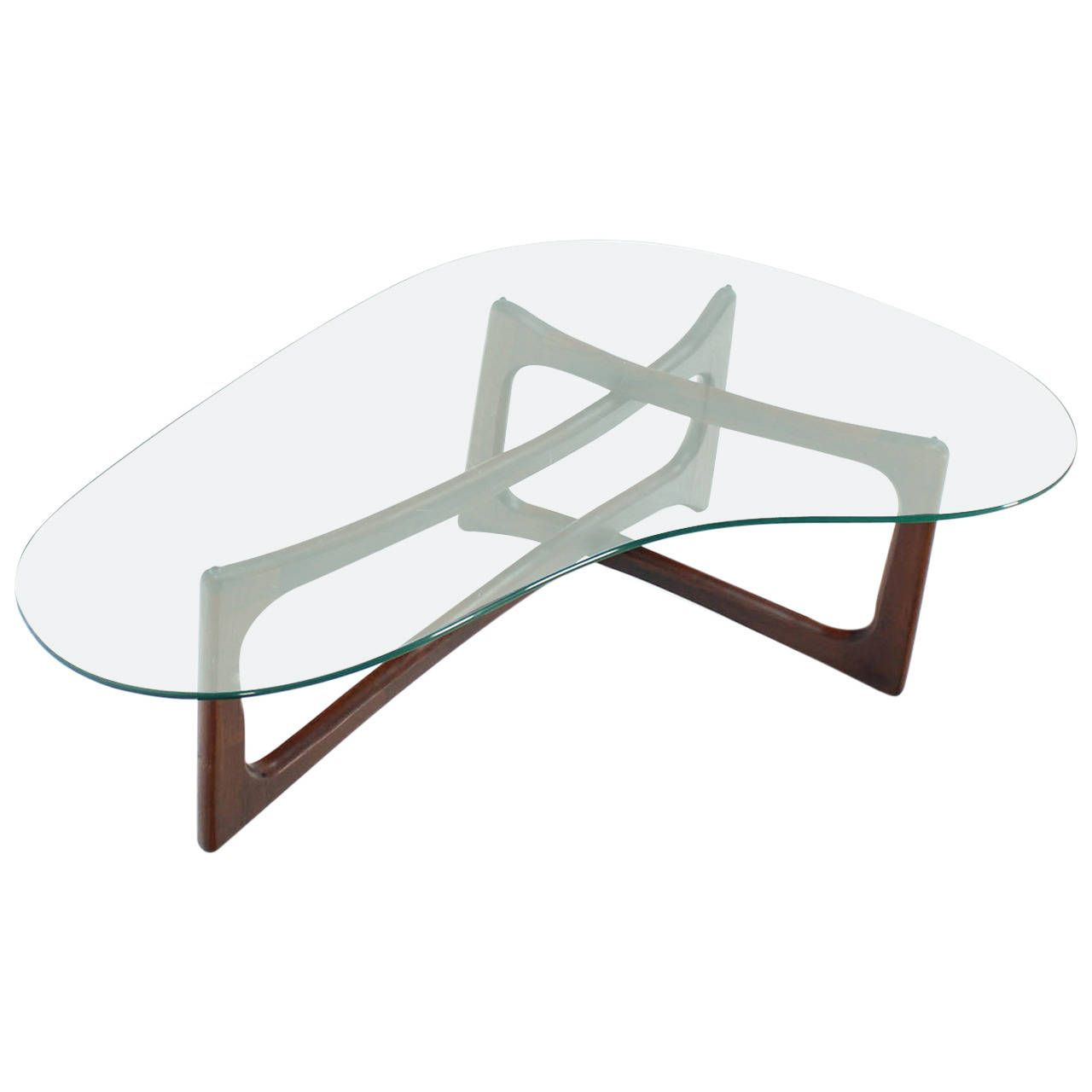 Adrian Pearsall Kidney Shape Coffee Table On A Walnut Base 1stdibs Com Coffee Table Coffee Table Design Table [ 1280 x 1280 Pixel ]