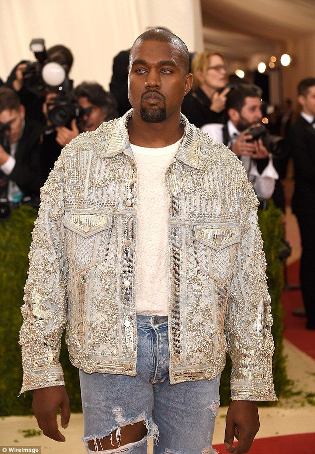 1f6f8f0afb574 Sparkles  The rapper wore an intricately sequinned silver jacket designed  by Balmain
