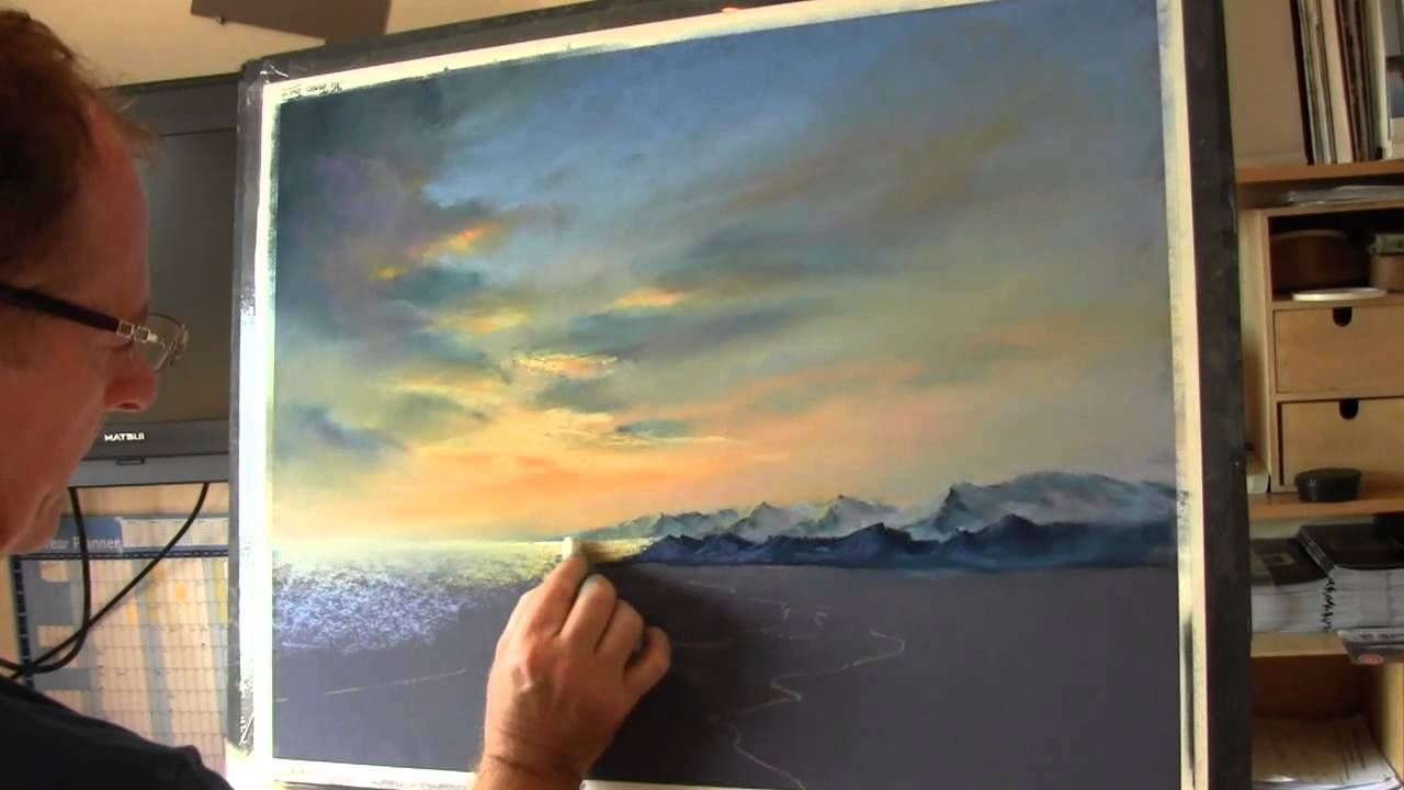 How To Paint Skies In Pastel Mountains And Beaches Learn How To Apply Pastel To Create Fantastic Effects And Pastel Painting Pastel Artwork Pastel Landscape