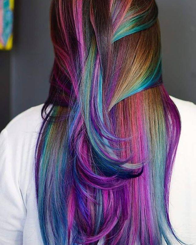 Trendy Hair Highlights Oil Slick Unicorn Hair Braiding Hair