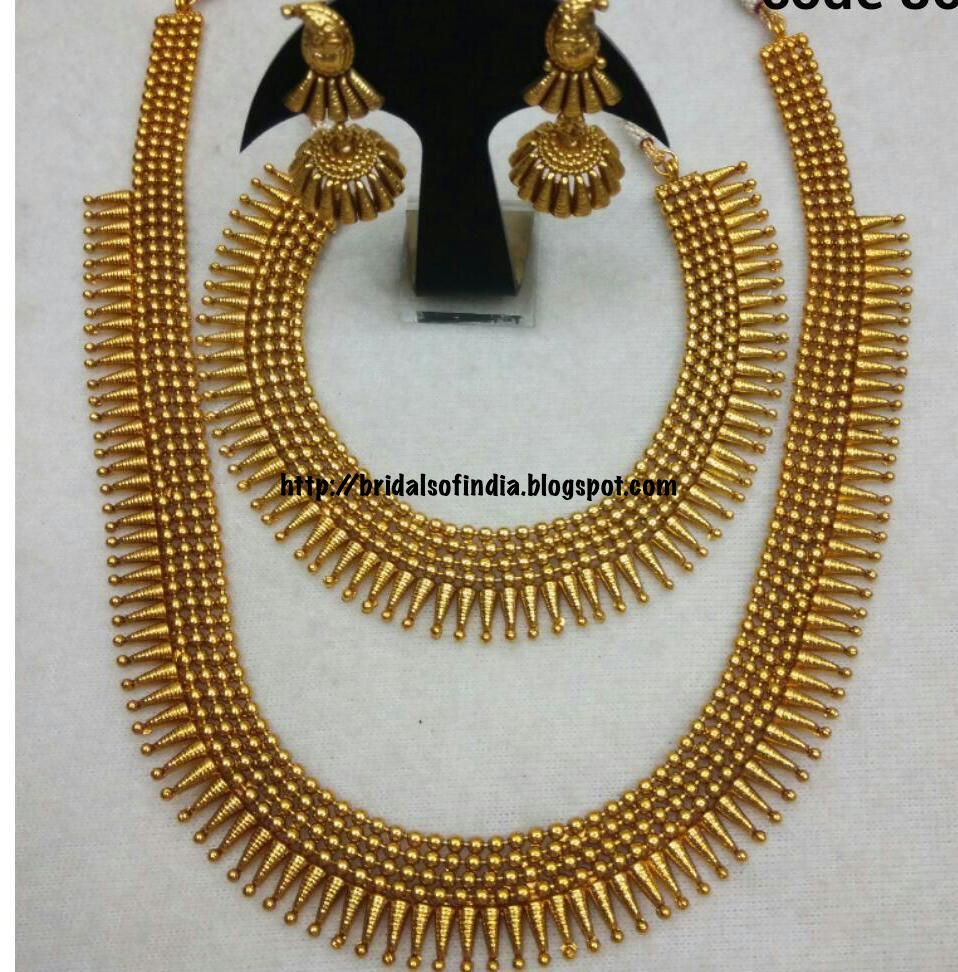 Indian Gold Jewellery Necklace Sets Google Search: Palakka Mala Designs Of Bhima'