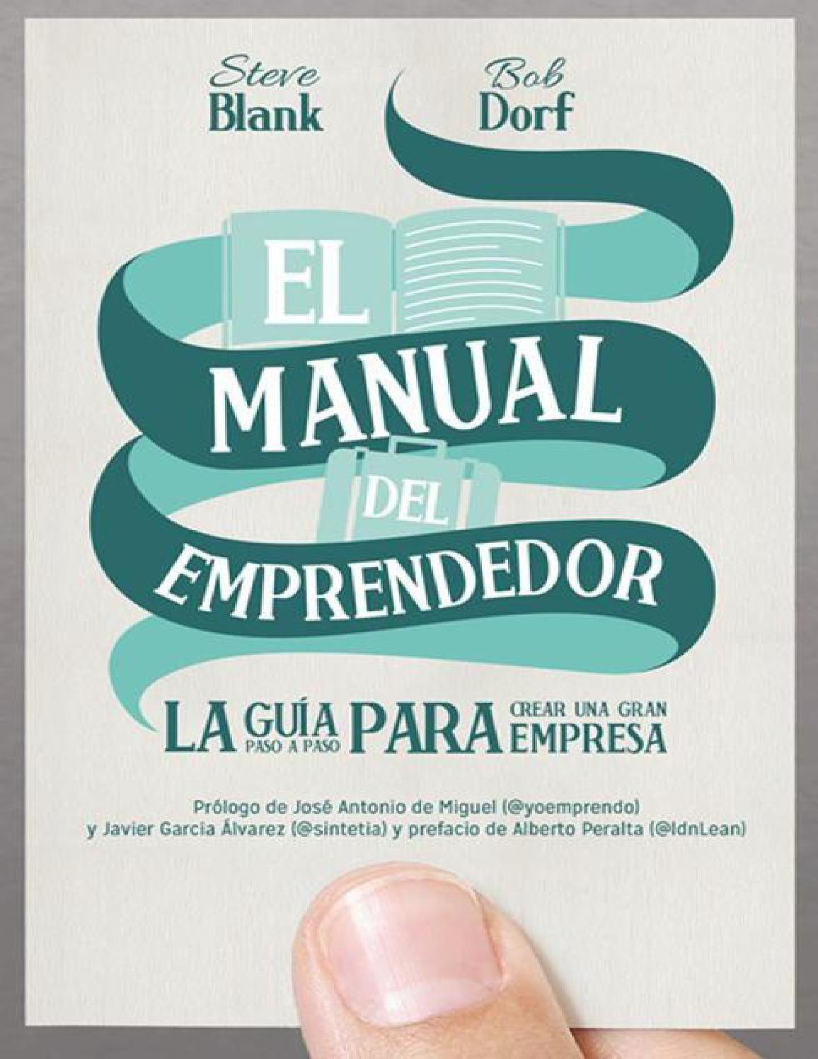 Manual Del Emprendedor Libros De Administracion Libros De Negocios Emprendedor