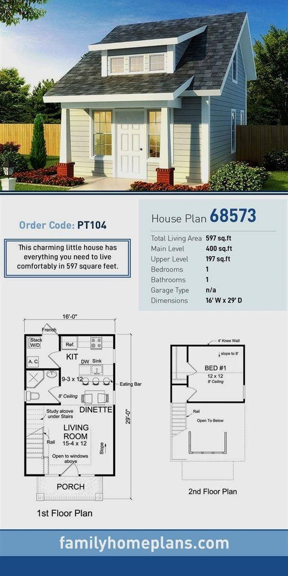 Tiny House Plan 68573 Total Living