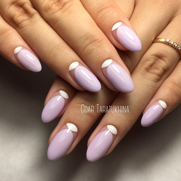 pastel purple nails with moon
