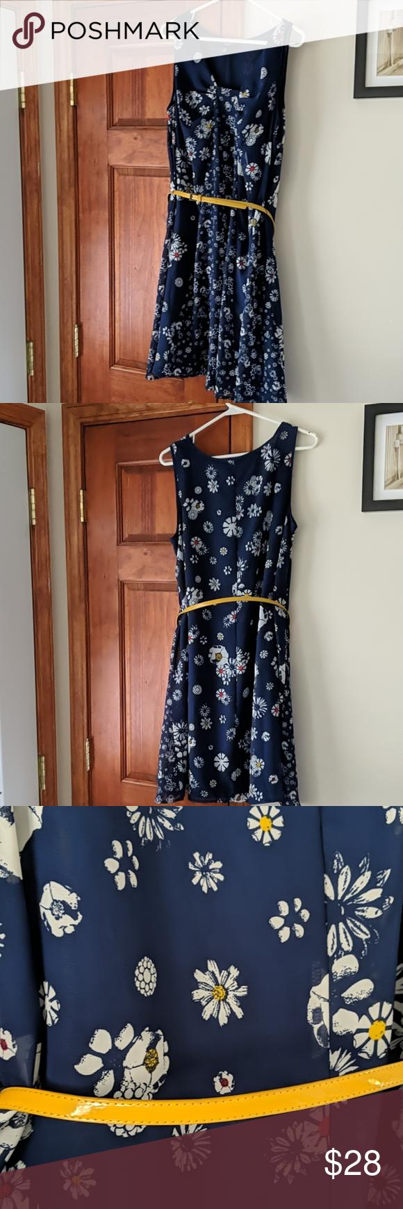 Blue Floral Off The Shoulder Dress Xhilaration Floral Dresses With Sleeves Dresses Floral Blue Dress [ 1740 x 580 Pixel ]