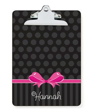 Sweet Bow Personalized Clipboard