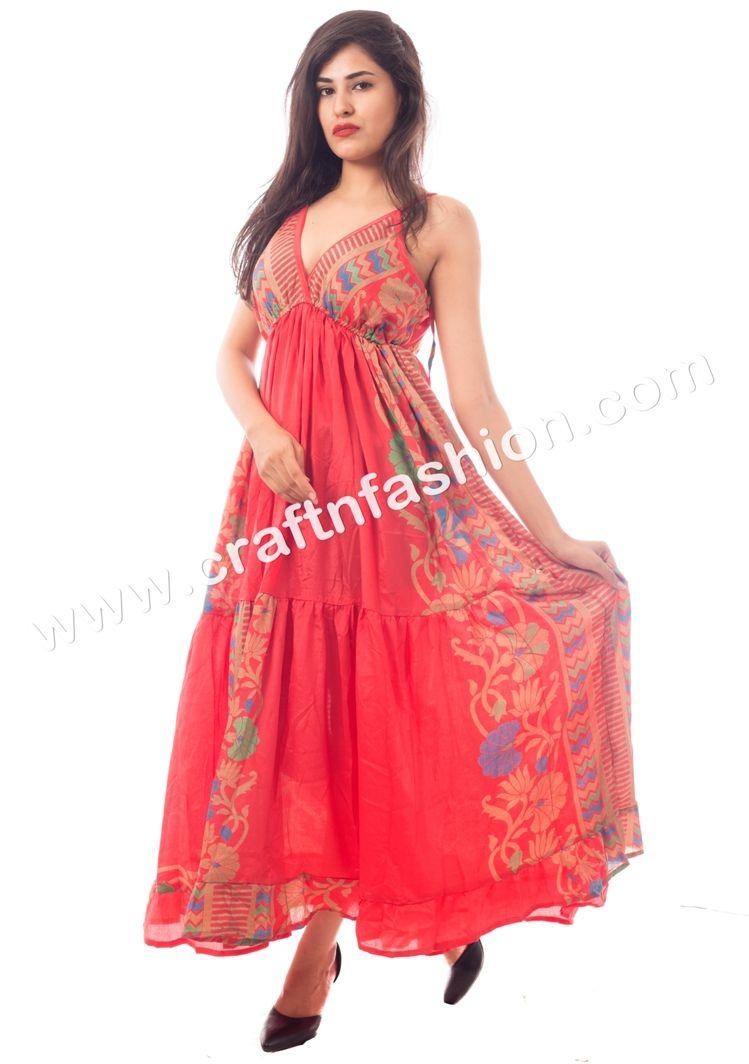 Australian style beach wear maxi dress poly silk crepe long dress