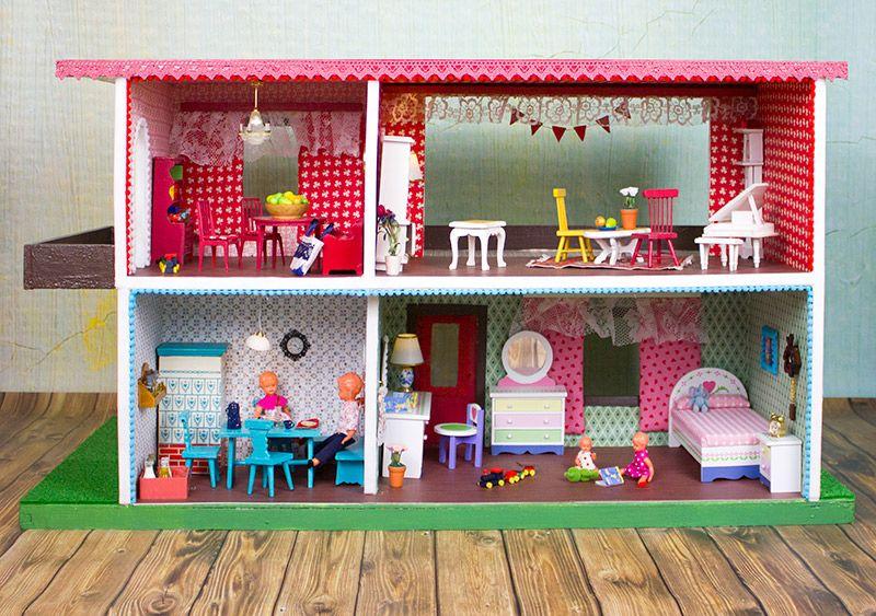 puppenhaus renovieren kinder pinte. Black Bedroom Furniture Sets. Home Design Ideas