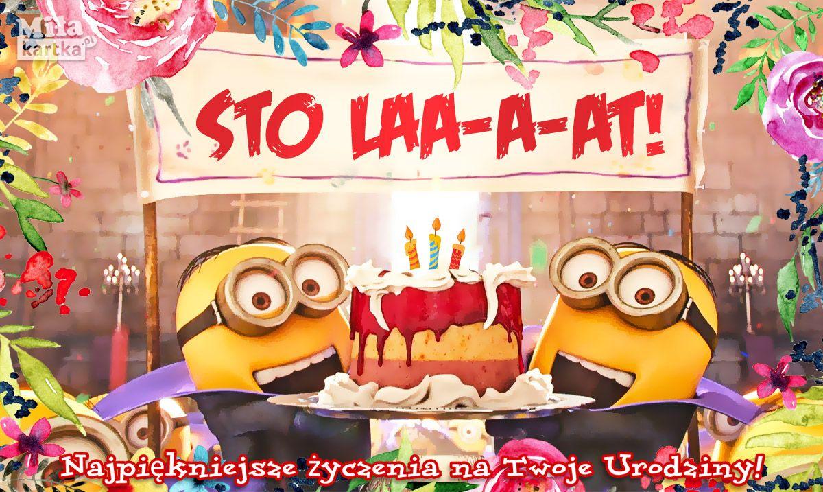 Wesole Urodzinowe Minionki Kartki Na Urodziny Kartki