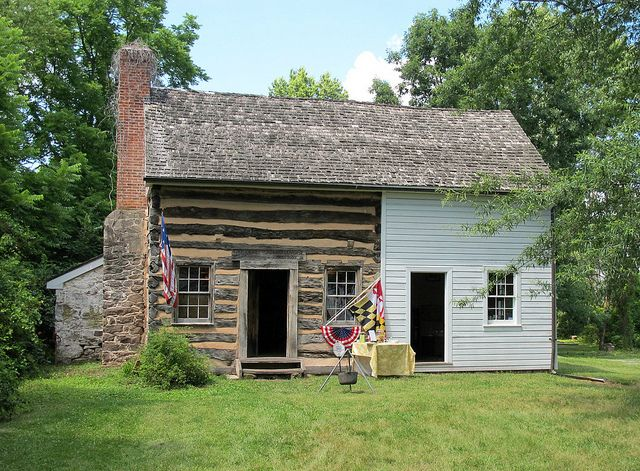 John Poole House Poolesville Md Img 2680 Log Cabin Exterior Poolesville Log Cabin Living