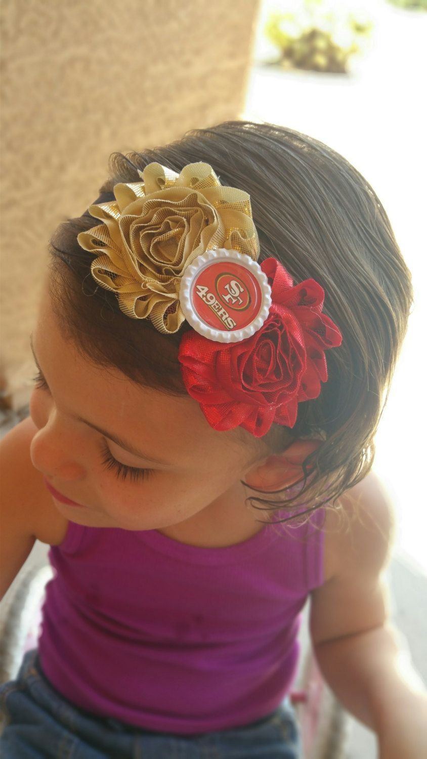 Katiedid Curiouser And Curiouser The San Francisco: Baby, Infant, Toddler, Girls San Francisco 49er's Headband