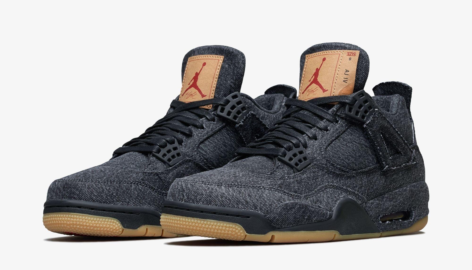 50adb36a629c65 Levi s x Air Jordan 4 Black Release Date AO2571-001