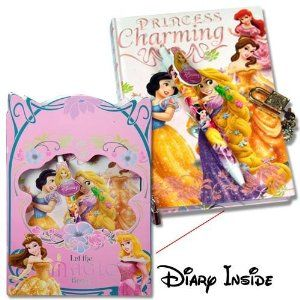 $13.99 Amazon.com: Disney PINK Princess Notebook, Journal & Pen Set w/Die Cut window and Lock & Key: Toys & Games