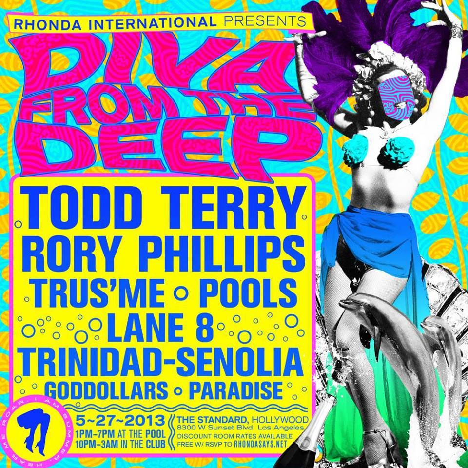 Todd Terry at The Standard Hotel in W. Los Angeles.  May 27, 2013