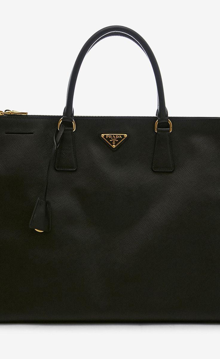 35451e58a0a classic black leather prada bag <3 | arm candy | Bags, Handbags ...