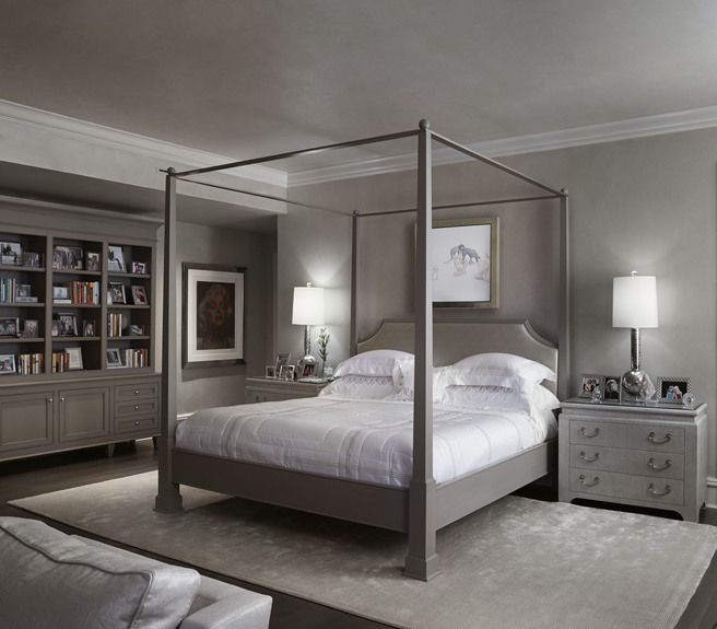 eva quateman portfolio interiors transitional bedroom - Transitional Canopy Decorating