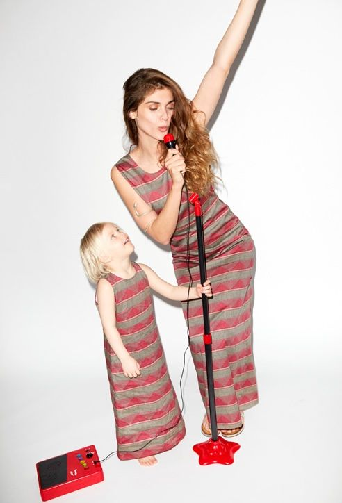 elisa sednaoui kids clothing yoox1 Elisa Sednaoui Designs Mother & Kids Little A Like Line for Yoox