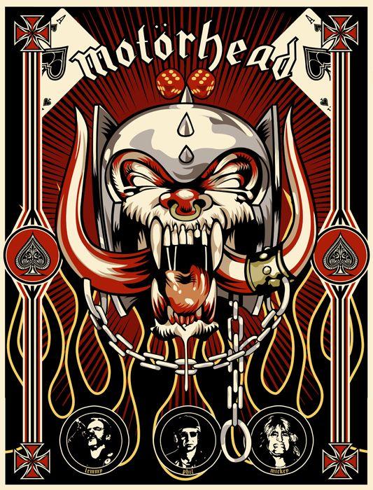 motorhead poster band art and posters pinterest musique groupes de rock et groupe. Black Bedroom Furniture Sets. Home Design Ideas