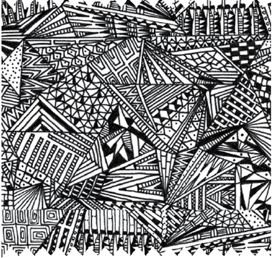Uses Of Line In Art : Decadent doodling karolina kling monotone prints
