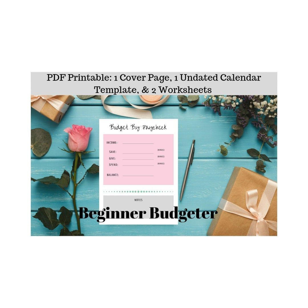 Beginner Budgeter Budget Worksheets Printable