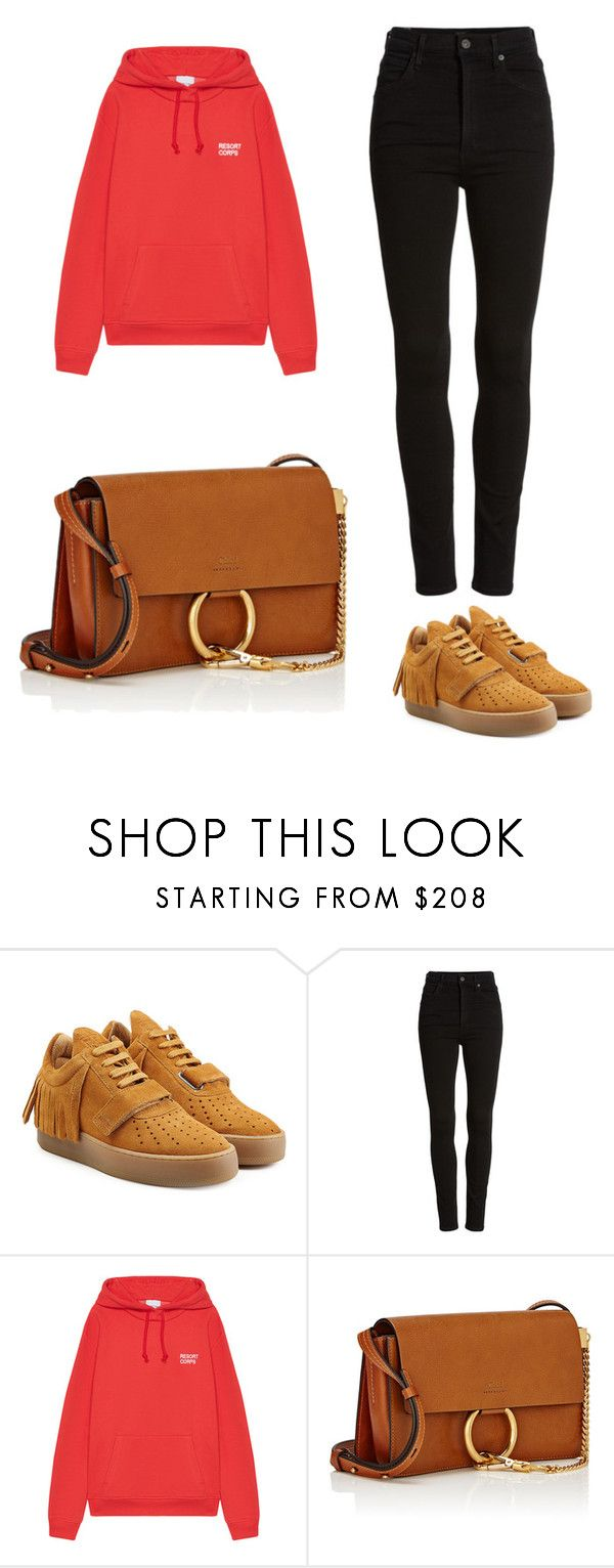 """Без названия #5"" by bakerwtfck ❤ liked on Polyvore featuring Filling Pieces, Citizens of Humanity, Resort Corps and Chloé"
