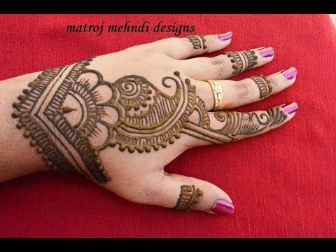 Simple Easy Mehndi Henna Designs For Hands Mehndi Designs For